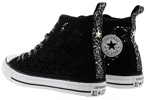 SNEAKER CONVERSE ALL STAR 1C16SP15 ALTA PIZZO NERA
