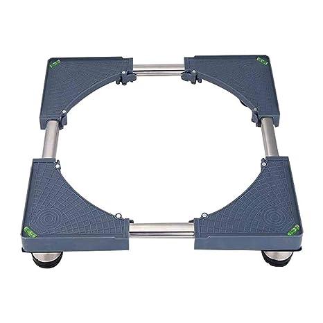 Bandeja de Base Ajustable móvil Multifuncional con 4 pies Fuertes Ruedas Tamaño de Base de Lavadora