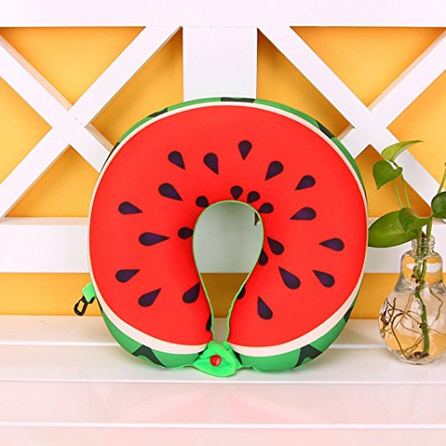 KMG Kimloog Fruit U Shaped Neck Pillows Nanoparticles Travel Car Cushion Pillow For Kids and Adults (B)