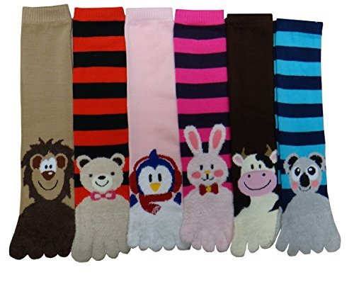 Mopas Women's Animals Toe Socks,size : 9-11  ()