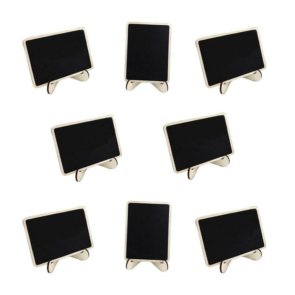 BESTOYARD 10pcs Mini Rectangle Chalkboards with Support for Message Board Signs Wedding Place Cards Party Favors 512BKnwOGDGL