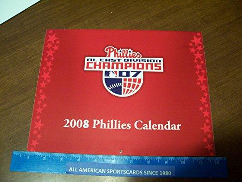 Philadelphia Phillies Calendars - 2008 WORLD CHAMPIONS PHILADELPHIA PHILLIES 12 MONTH CALENDAR NEAR MINT-MINT