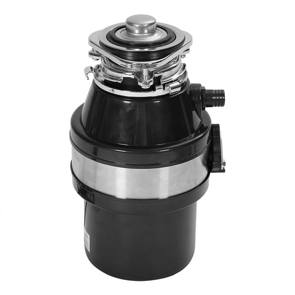 Garbage Disposer, 1HP 2600RPM Garbage Disposer Continuous Feed Food Waste Household Kitchen Disposal with Power Cord US Plug 110-240V