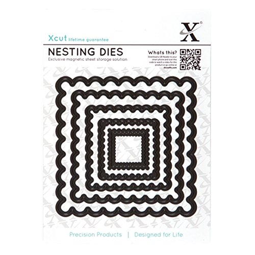 (DOCrafts X-Cut Nesting Dies, Scalloped Square)