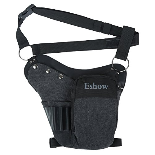 - Eshow Men's Drop Leg Pouch Tools Bags Tactical Leg Bag Purse Fanny Pack Thigh Bags Bike Cycling Hip Bag Canvas