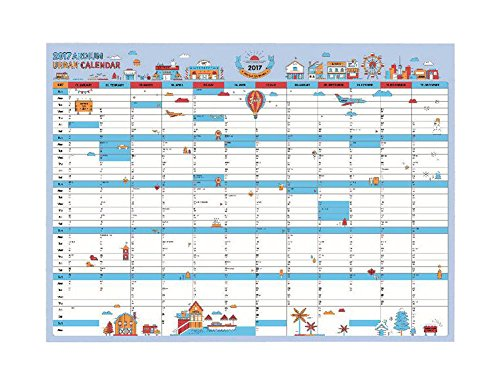 Set Of 5 Poster Calendar Calendar Schedule Table 365 Days Schedule