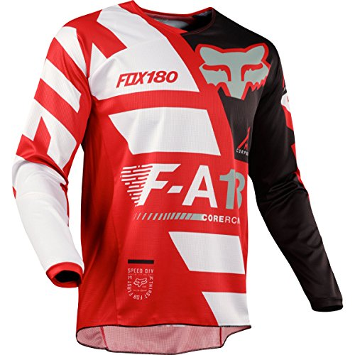 Fox Racing 2018 Youth 180 Sayak Jersey Red- (Fox Racing Leather)