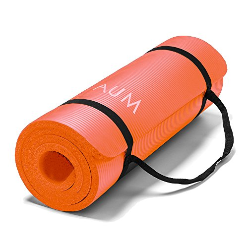 AUM High Density HD Foam Tech Yoga Exercise Mat - 72