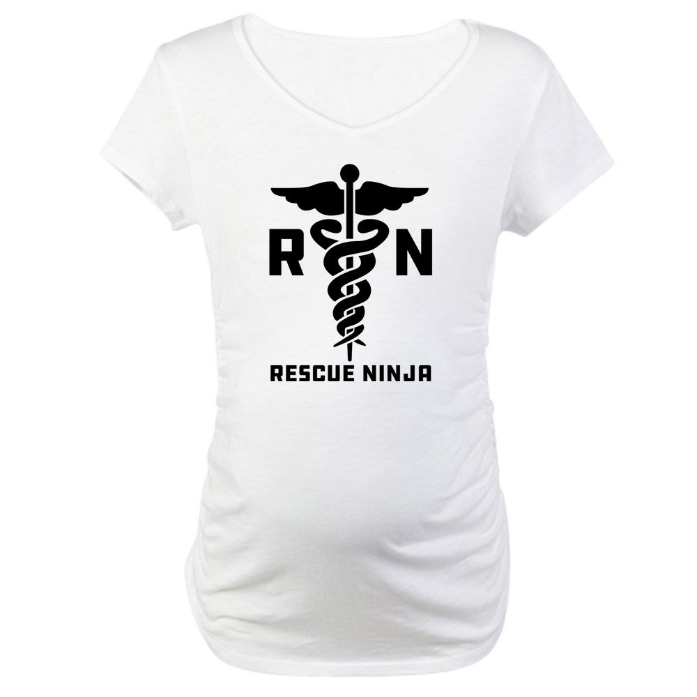 b0a9d3ed00a55 CafePress Rescue Ninjas Maternity Tee at Amazon Women's Clothing store: