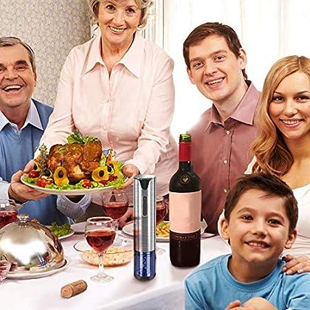 NOBRAND Sacacorchos Abrelatas De Vino Eléctrico Sacacorchos Automático Recargable Abrebotellas De Vino con Cable De Carga USB Y Acero Inoxidable