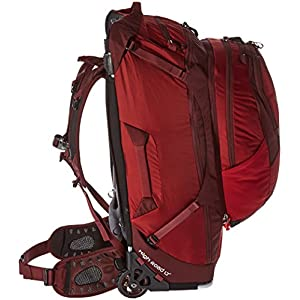 Backpack suspension system and detachable daypack
