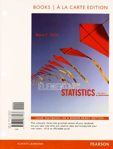 Elementary Statistics   Mystatlab With Pearson Etext Access Card Package   Books A La Carte