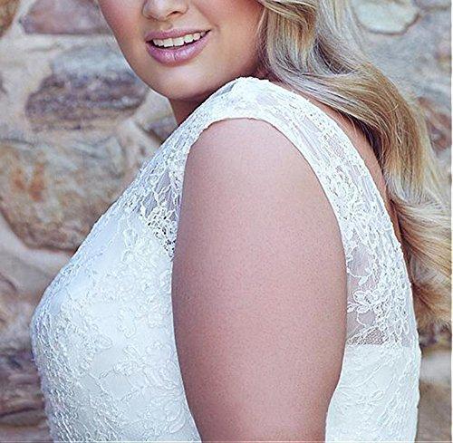 Size Party White Sheer Dreamdress Dresses Beads Women's Lace Wedding Chiffon Plus Y11qvz