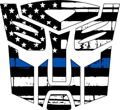Thin Blue Line- Transformer Autobot Blue Line Decal Vinyl Sticker 4