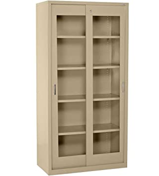 Clearview Tall Storage Cabinet with Sliding Clear Doors Color Tropic Sand  sc 1 st  Amazon.com & Amazon.com : Clearview Tall Storage Cabinet with Sliding Clear Doors ...