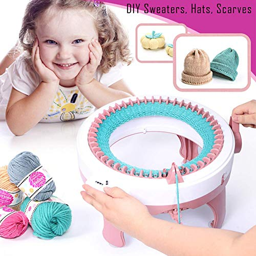 Knitting Machine, Smart Weaver Knitting Round Loom, Knitting Board Rotating Double Knit Loom, Needles Knitting Machine Weaving Loom Kit for Adults and Kids by SICAO HOUSE (Image #1)