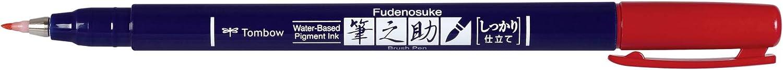 Red Tombow WS-BH25 Fudenosuke Brush Pen