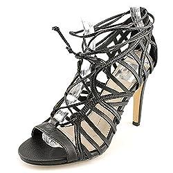Dolce Vita Womens Tessah Sandal White/Black Fabric Size 9.5
