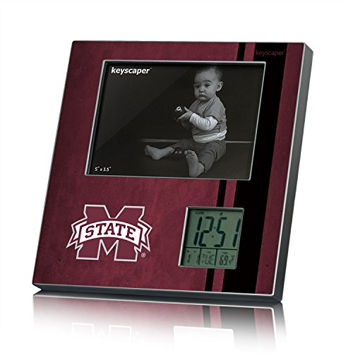 Mississippi State Bulldogs Picture Frame and Desk Clock NCAA (Mississippi State Bulldogs Clocks)