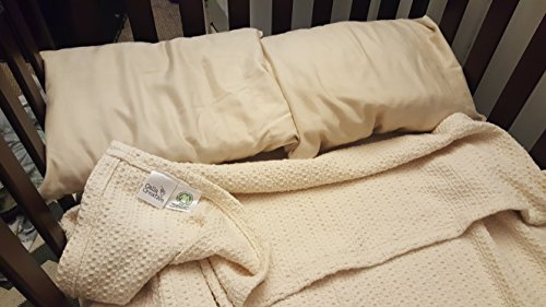 Calla Creative 100% Organic Cotton Large Swaddle Baby Blanket will help your Toddler Sleep Naturally and Chemical Free, Great Shower Gift, unisex girls boys Oversized 50'' x 60'' by Calla Creative (Image #2)