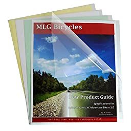C-Line Clear Report Covers Only, Economy Vinyl, For Use with Slide \'N Grip Binding Bars, 8.5 x 11 Inches, 100 per Box (31347)