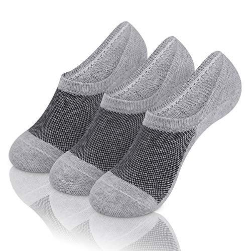 Mens Low Cut No Show Socks Mesh Knit Ventilation Fresh Super Comfy Casual Non Slip Socks 3-9 Pairs