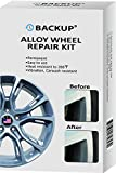 Backup Alloy Wheel Repair Kit Restoration Tools Fix Scratches, Slight Dents, Chip, Curb Damages, Sanding Marks, Installation Damages, Heat Resistant to 270°F, Vibration Resistant, Carwash Resistant