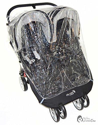 Protector de lluvia Compatible con Britax B-Agile Doble carrito doble (213)