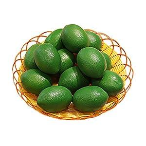 Buytra 10 Pack Artificial Fake Lemons Limes Fruit for Vase Filler Home Kitchen Party Decoration 45