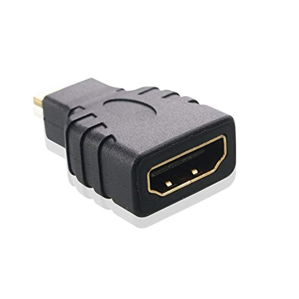 Micro HDMI to HDMI Adapter Microhdmi Adaptor HDMI Adapter Gold Plated Cable Adapter Black