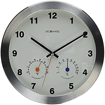 Amazon Com Decomates Non Ticking Silent Wall Clock With