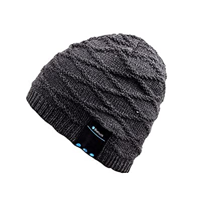 Bluetooth Beanie Hat,Mydeal Winter Warm Soft Knit Cap with Wireless Headphone Headset Earphone Stereo Speaker Microphone Hands Free for Outdoor Sport,Compatible with Iphone Android Cell Phones