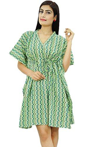 New Indian Kaftan Boho Hippy Plus Size Wmen Dress Caftan Beach Cover Up