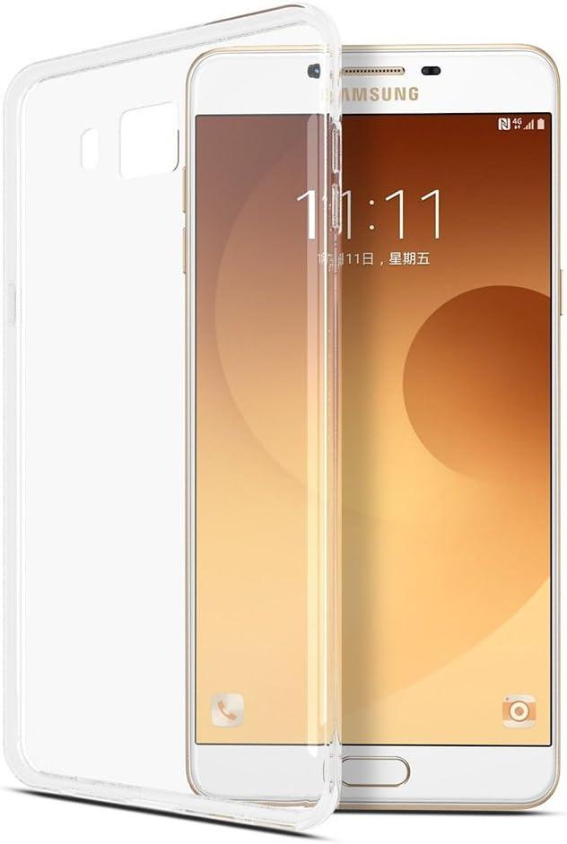 REY Funda Carcasa Gel Transparente para Samsung Galaxy C9 / C9 Pro, Ultra Fina 0,33mm, Silicona TPU de Alta Resistencia y Flexibilidad: Amazon.es: Electrónica