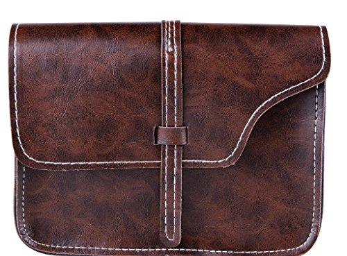 Leather Shoulder Coffee Cross QZUnique Style Body Vintage Women's Fashion Bag Soft PU RzPxAwtFq