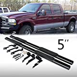 "Automotive : VioGi 2pcs Fit 99-16 Ford F250/F350/F450 Superduty Super Crew Cab (4 Full Size Door) 5"" Oval Blk Carbon Steel C/S Side Step Nerf Bar Running Boards Pickup Truck"