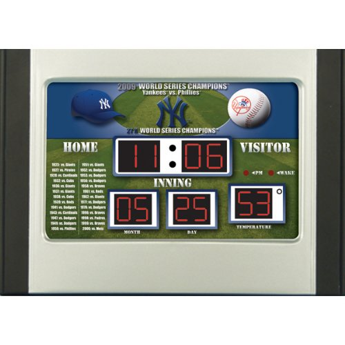 MLB New York Yankees Scoreboard Desk (Mlb Baseball Alarm Clock)