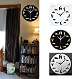 cyclamen9 Sex Posture Wall Clock,Fashion Couple Silent Non Ticking Quality Quartz Battery Operated 12 Inch Round Easy to Read Home(Black)