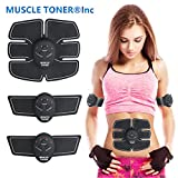#3: ABS STIMULATOR & MUSCLE TONER - Portable Muscle Trainer with Rhythm & Soft impulse - 6 Modes & 10 levels with Simple Operation - Ultimate abs stimulator for Men Women