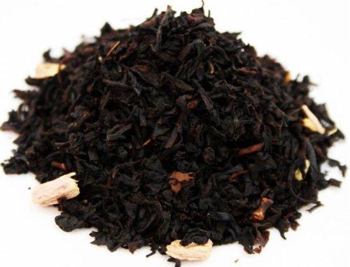 RHUBARB CREAM - flavoured black tea - in a Black Jap Caddy - 77x77x100mm (75g)