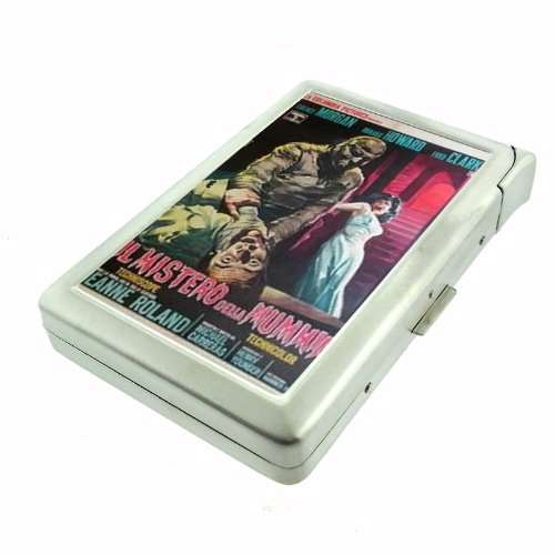 Curse of the Mummy's Tomb 1964 Double-Sided Cigarette Case with lighter, ID Holder, and Wallet D-391 (The Curse Of The Mummys Tomb 1964)