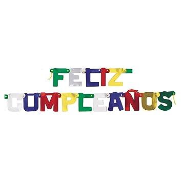 Partygram 9035PG Cartel Articulado Feliz Cumpleaños: Amazon ...