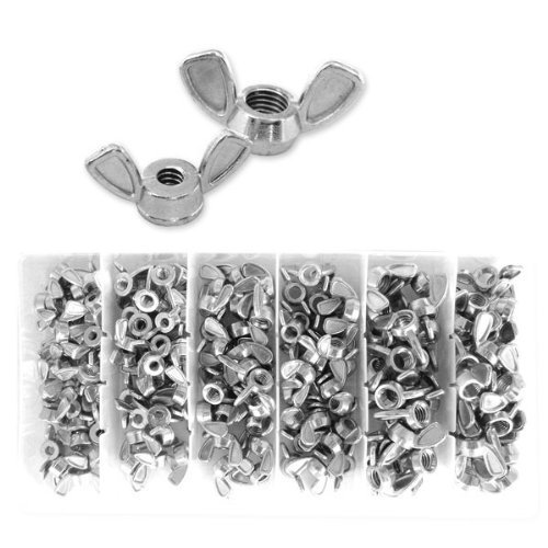 Neiko Wing Nut Assortment - 150 Pieces with Plastic Storage Case