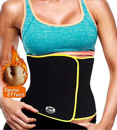 Waist Trimmer AB Belt for Men & Women,Workout Sweat Enhancer Exercise Adjustable Wrap for Stomach, Low Back and Lumbar Support with Sauna Suit ()