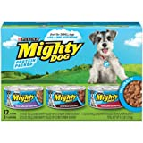 Cheap Mighty Dog Variety Pack. Hearty Pulled-Style Chicken Dinner, Porterhouse Steak Flavor, Hearty Pulled-Style Beef Dinner 12 – 5.5 oz casn (Pack of 2, 24 cans total)(Green Box)