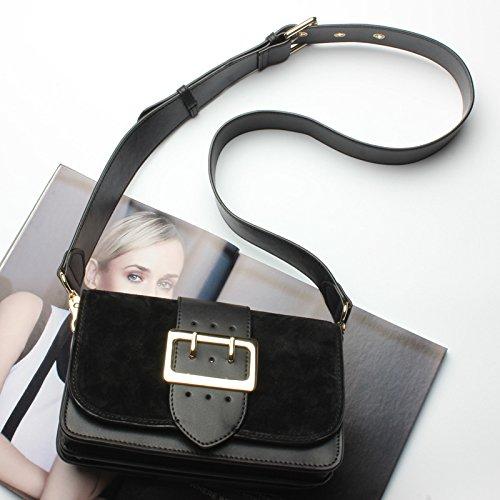 Bolso GUANGMING77 De black Hombro Classic Marea Color Caramelo Dama dOOx1n