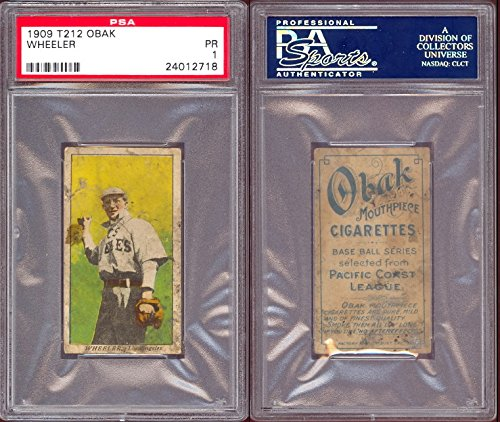 1909 obak (T212) Regular (Baseball) Card# 70 wheeler of the los angeles Fair Condition