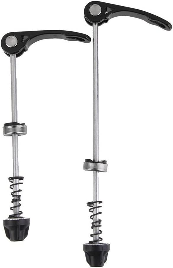 Tinksky Bicycle Quick Release for Wheel Hub Front and Rear Skewers Cycling Parts,1 Pair Black