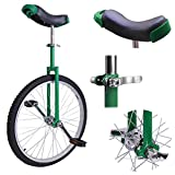 """24"""" Green Unicycle"""