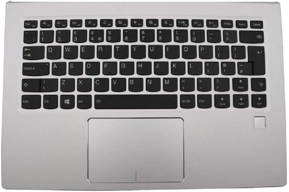 Laptop PalmRest&Keyboard for Lenovo Yoga 910-13IKB United Kingdom UK 5CB0M35005 Upper Case Silver New